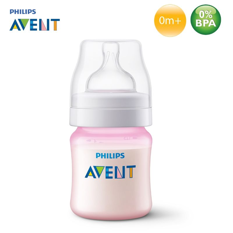 Mamadeira Philips Avent Airflex - 125ml Rosa