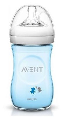 Mamadeira Philips Avent Pétala Decorada - 260ml Azul