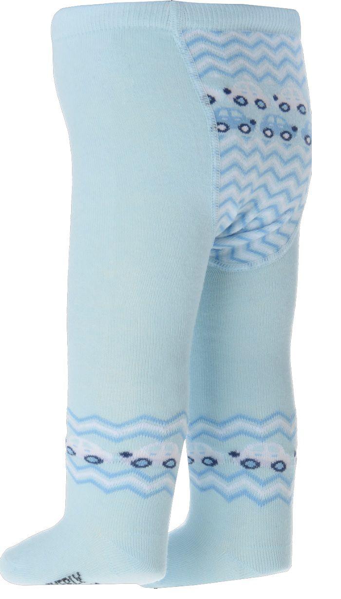 Meia Calça Bebê Everly - Carrinhos Azul