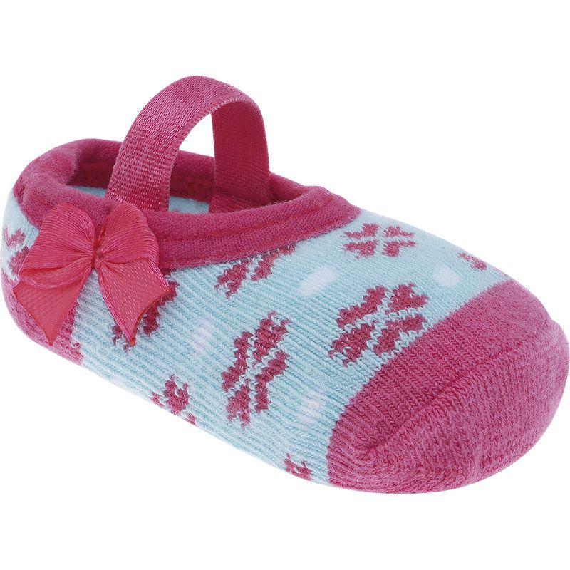 Meia Sapatilha Laços Rosa - Pimpolho (Tamanho de 0 a 15)