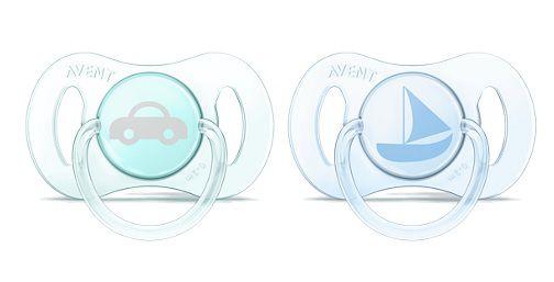 Mini Chupetas Philips Avent Recém Nascido - Barco e Carro