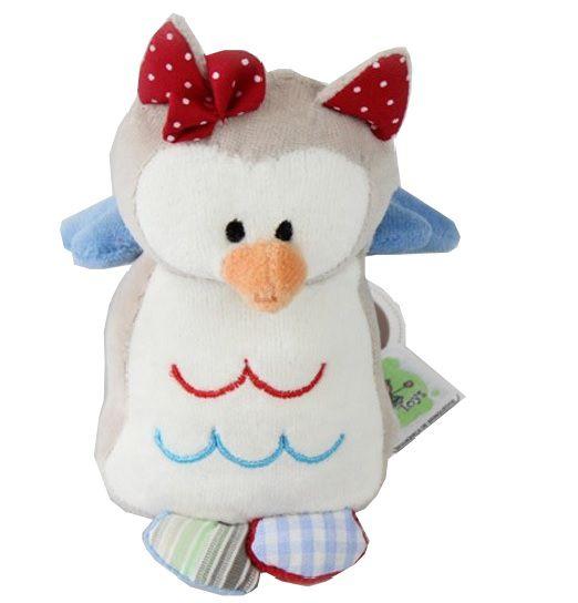 Mini Coruja de Pelucia - Zip Toys - Matilda com Chocalho