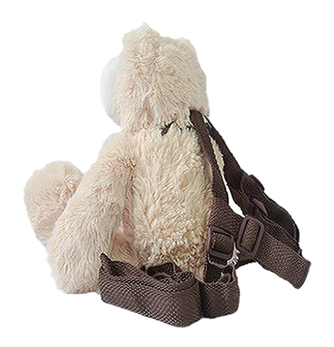 Mochila Infantil com Alça Guia Urso - Zip Toys