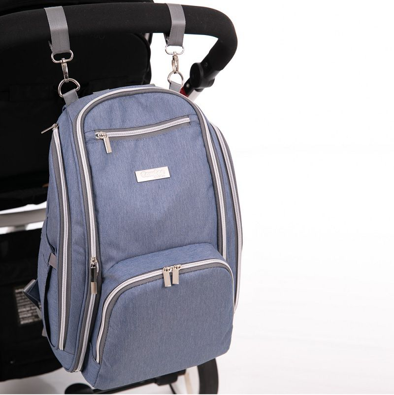 Mochila Maternidade Multiuso Azul Jeans - Comtac Kids