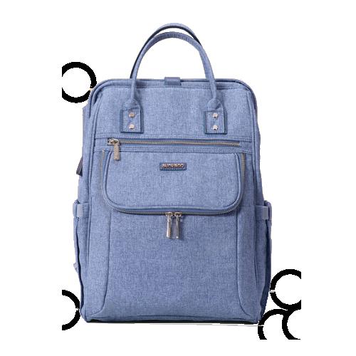 Mochila Maternidade Sunveno Azul (novo modelo!)