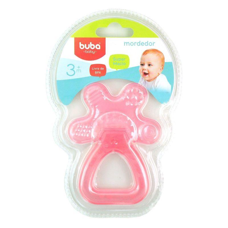 Mordedor Chocalho com Água Rosa - Buba Baby
