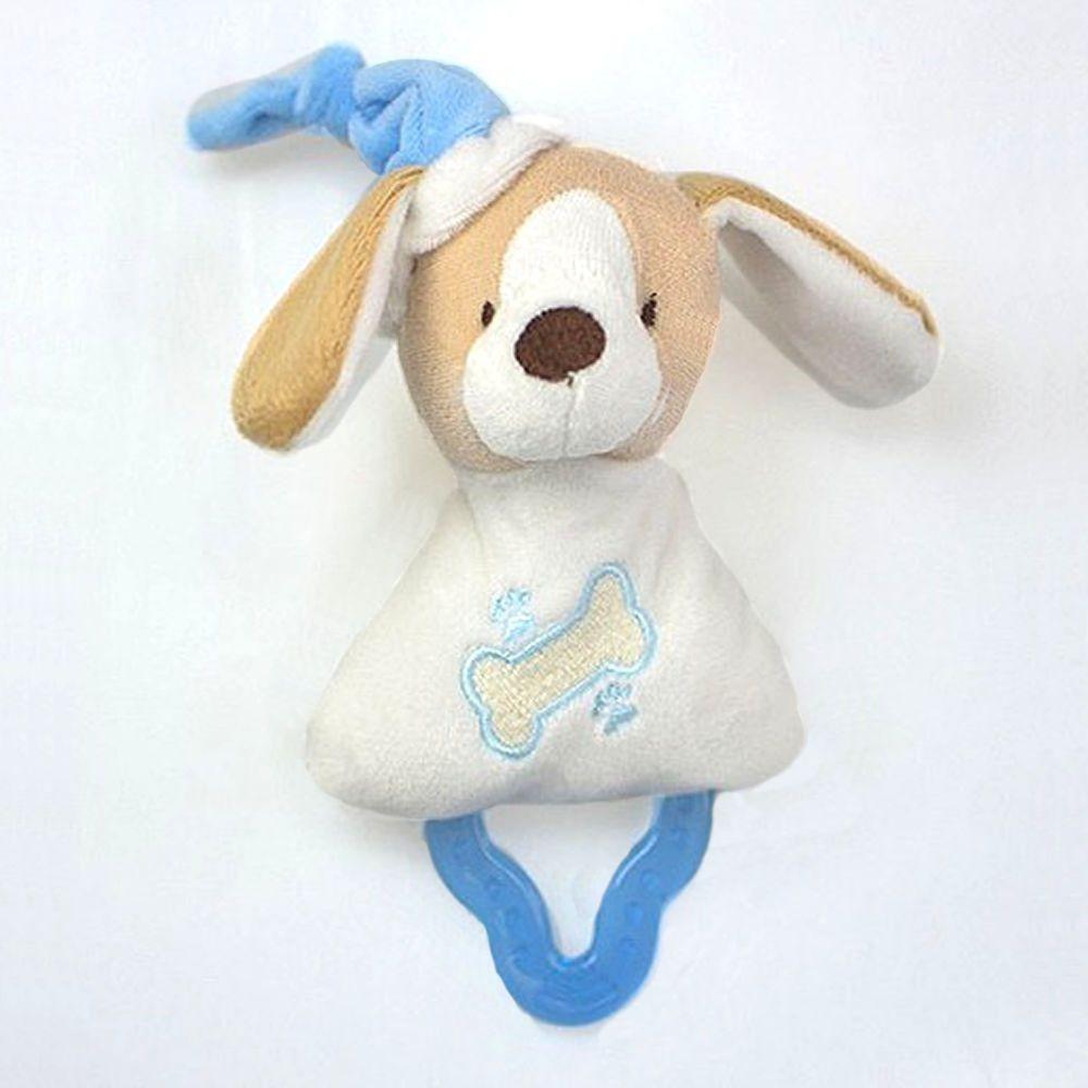 Mordedor Chocalho Zip Toys - Cachorrinho Marfim