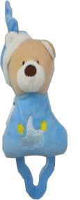 Mordedor Chocalho Zip Toys - Urso Azul