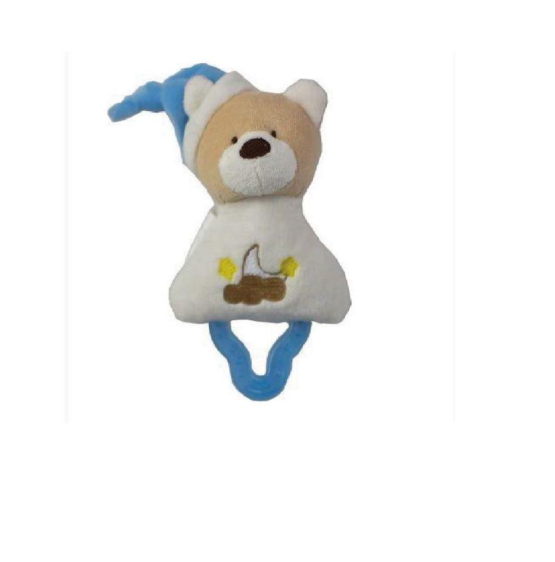 Mordedor Chocalho Zip Toys - Urso Marfim