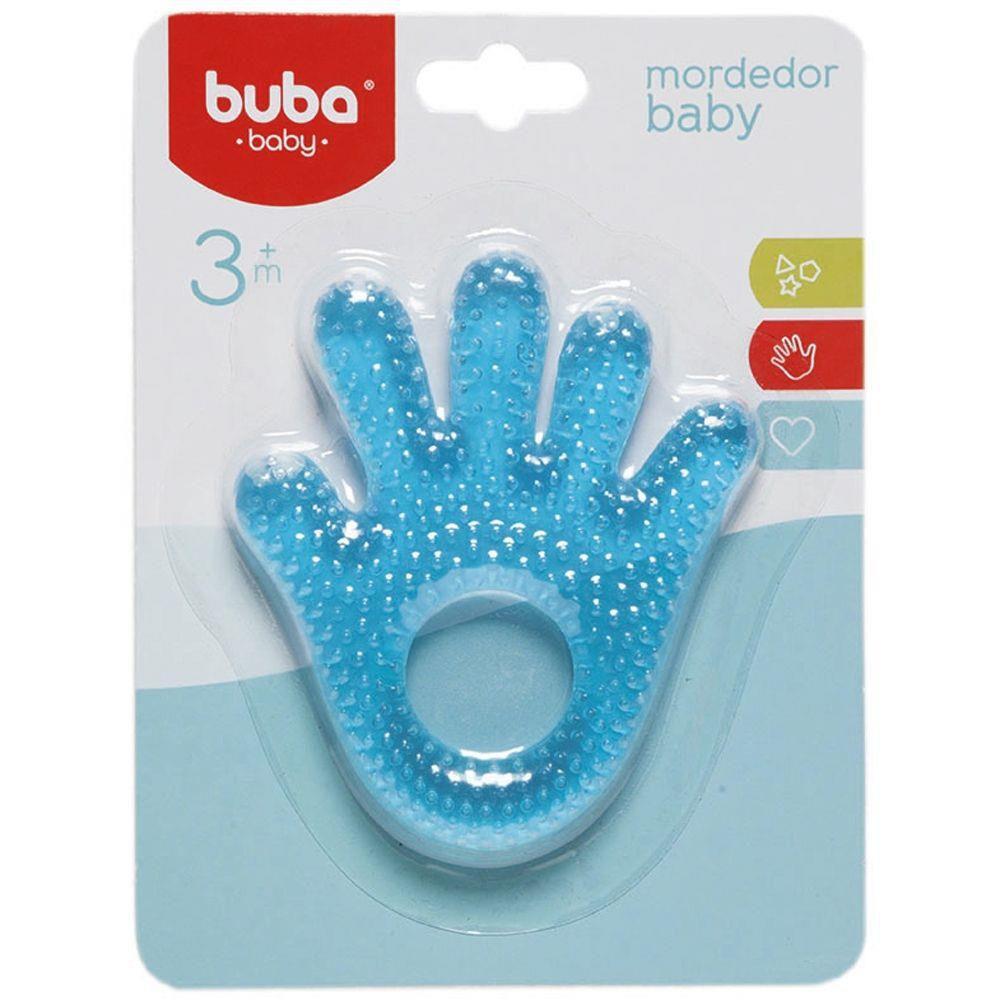 Mordedor com Água Mãozinha Azul - Buba Baby