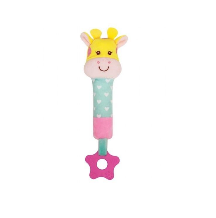 Mordedor com Buzina Animal Fun Girafa - Buba Baby