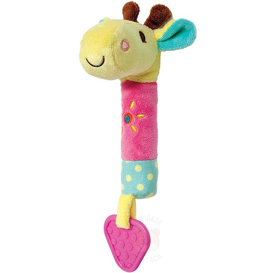 Mordedor com Buzina Girafinha - Buba Baby