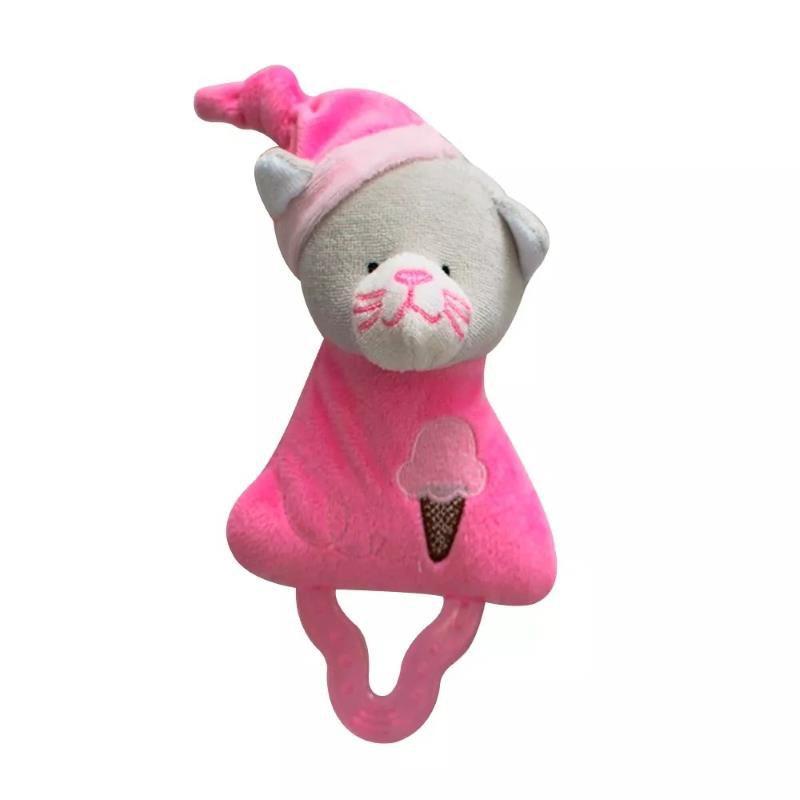 Mordedor com Chocalho Gatinha Rosa - Zip Toys