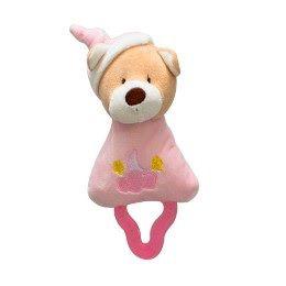 Mordedor com Chocalho Urso Rosa - Zip Toys