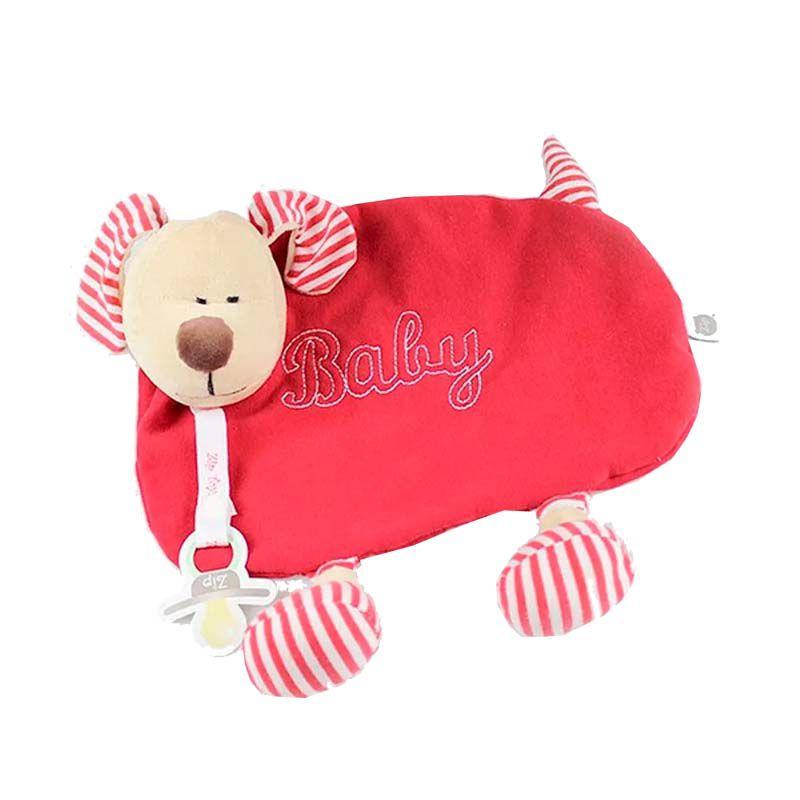 Naninha com Prendedor Chupetas Cachorro Vermelho - Zip Toys