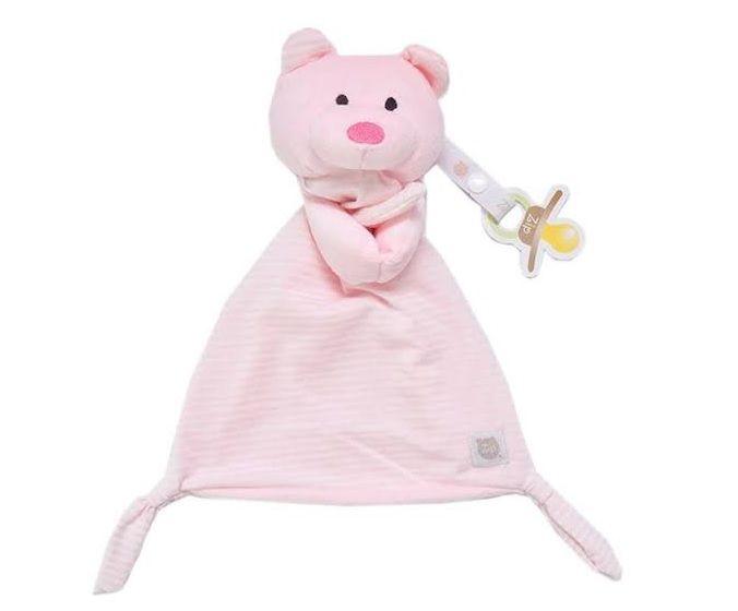 Naninha com Prendedor Chupetas Urso Rosa - Zip Toys