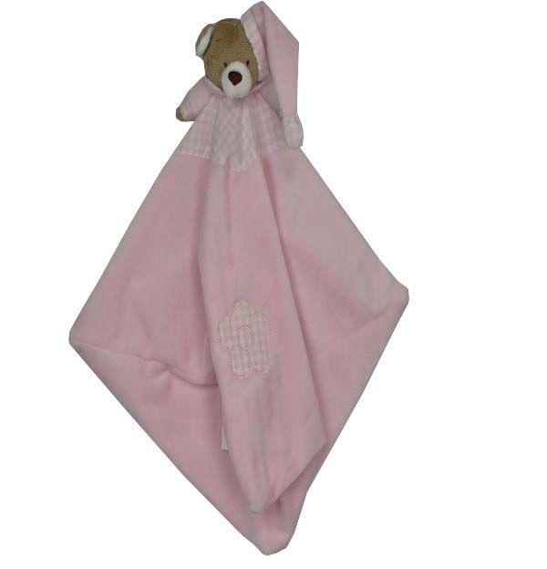 Naninha Para Bebê Urso Nino Rosa - Zip Toys