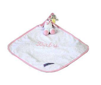 Naninha Plush e Cetim Cachorrinho Listrado Rosa - Zip Toys