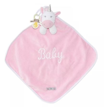 Naninha Plush e Cetim Unicórnio rosa - Zip Toys