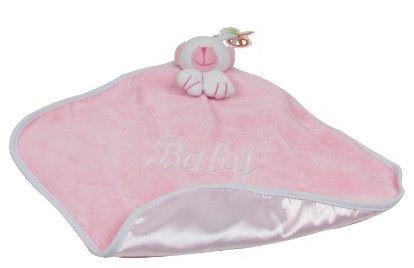 Naninha Plush e Cetim Ursinho Rosa - Zip Toys