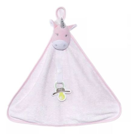 Naninha unicórnio branco atoalhada - Zip Toys