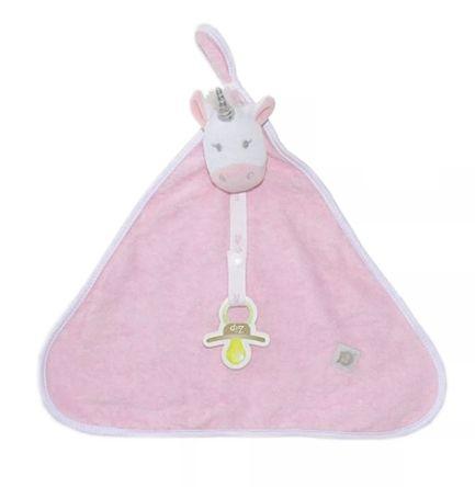 Naninha unicórnio rosa atoalhada - Zip Toys