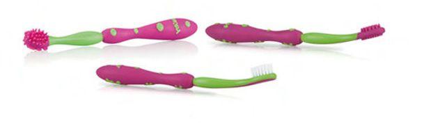 Nûby Kit Cuidados Oral Baby Rosa - 3 Estágios
