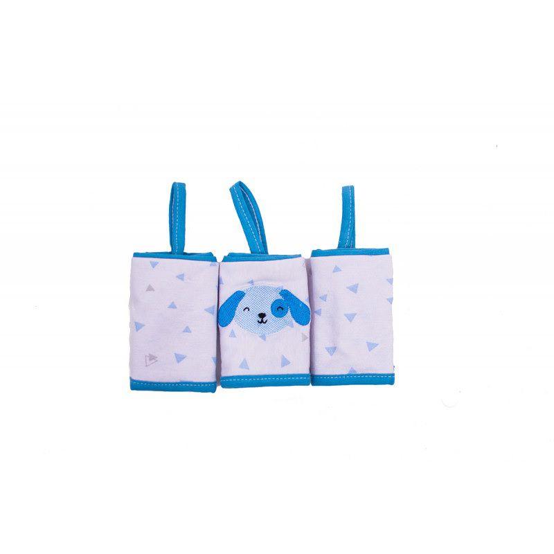 Paninho de Boca em Malha azul com Prendedor Chupeta - Papi Baby