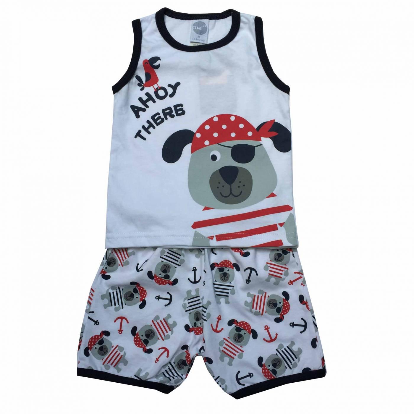 Pijama Pirata ClubZ - Piu-Piu - 3 Anos