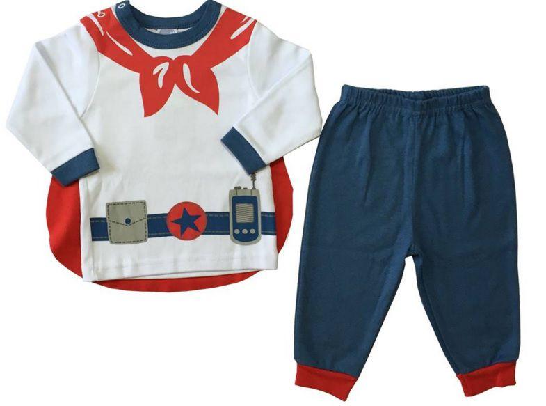 Pijama Super Herói - Piu-Piu - Tamanho 9 Meses