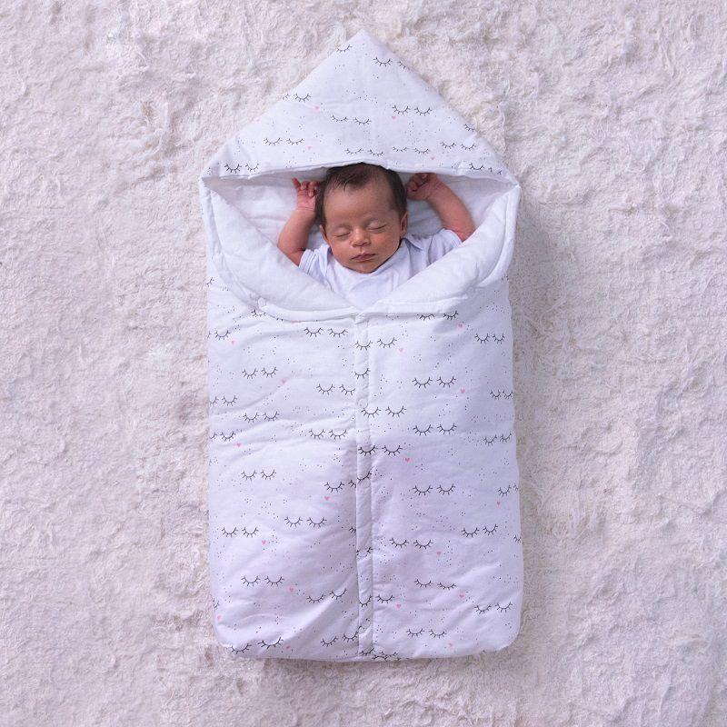 Porta Bebê com Capuz Cílios - Papi Baby
