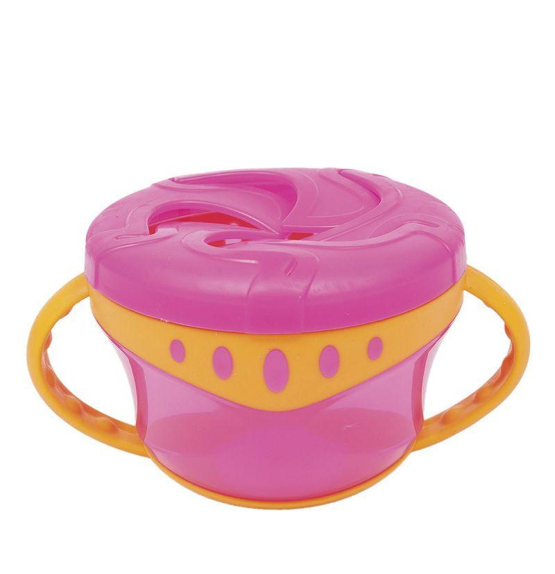 Porta Biscoitos com Alça Rosa - Buba Baby