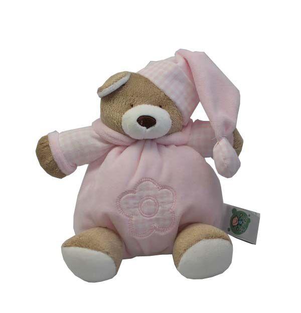 Porta Chupeta de Pelúcia Urso Rosa - Zip Toys
