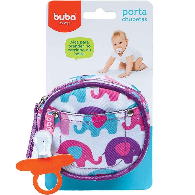 Porta Chupeta Elefantinhos - Buba Baby