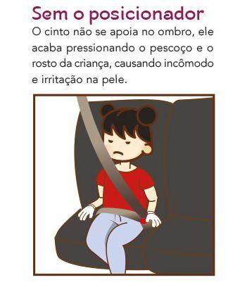 Posicionador para Cinto Segurança - Comtac Kids