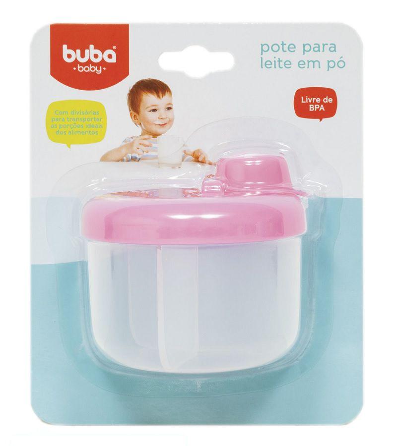 Pote para Leite em Pó Rosa - Buba Baby