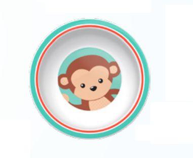 Pratinho Bowl Animal Fun Macaco - Buba Baby