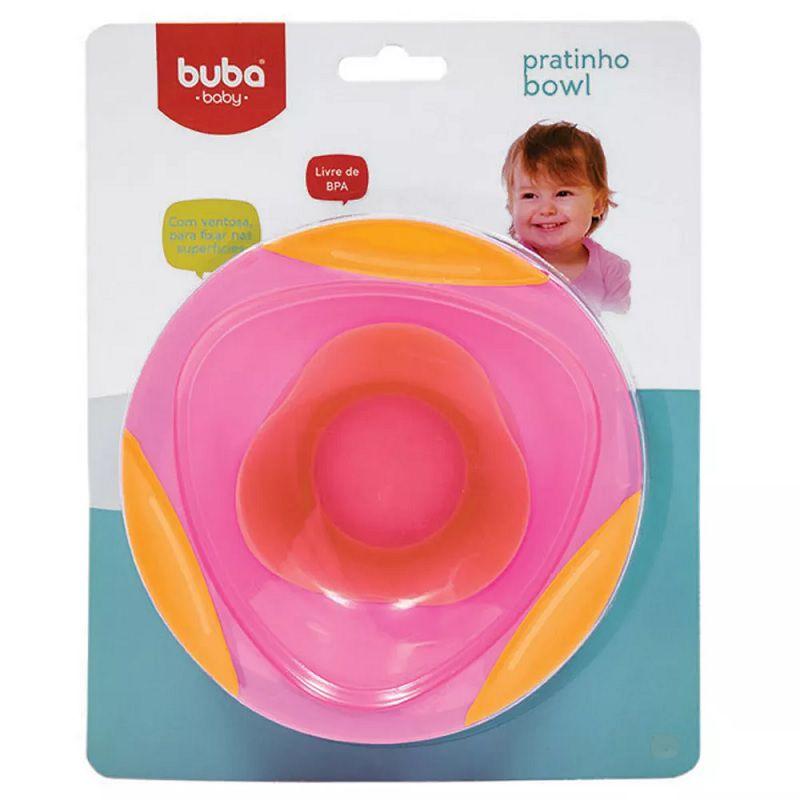 Pratinho Bowl com Ventosa Rosa - Buba Baby