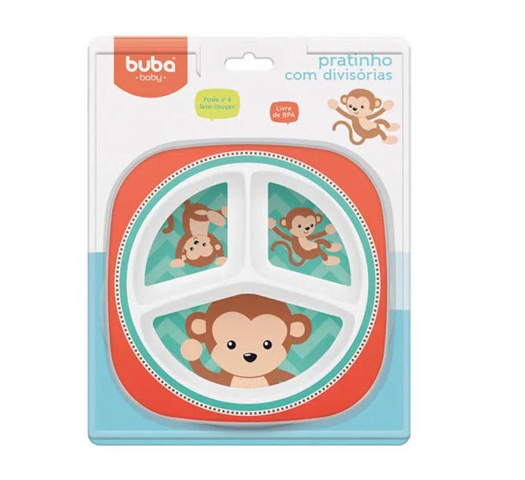 Pratinho com Divisórias Macaco - Buba Baby
