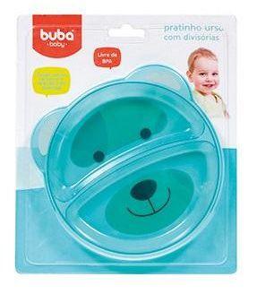 Prato Raso com Divisórias Urso Verde - Buba Baby