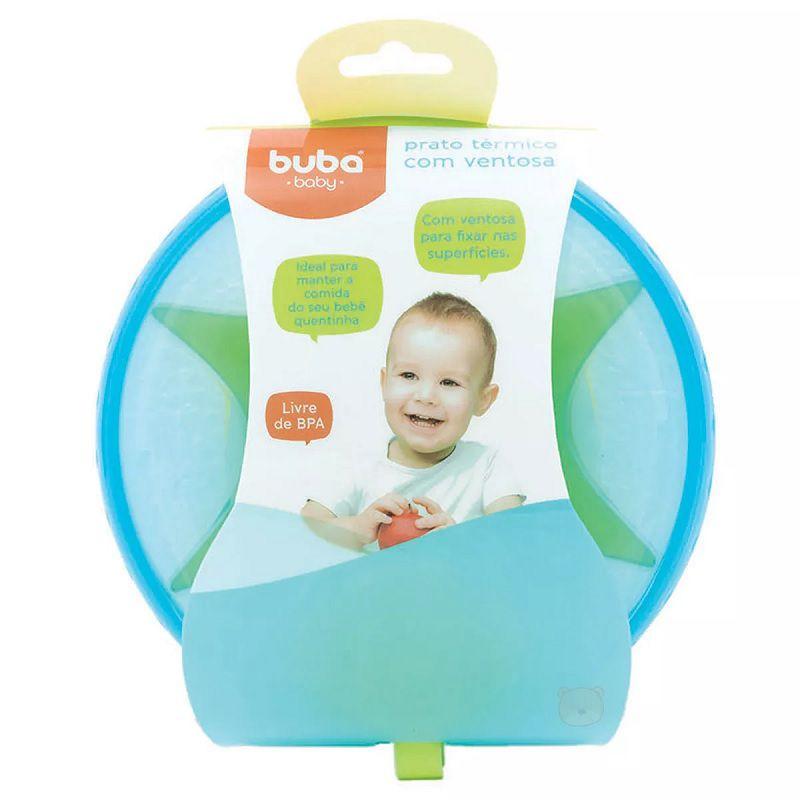 Prato Térmico com Ventosa Azul - Buba Baby