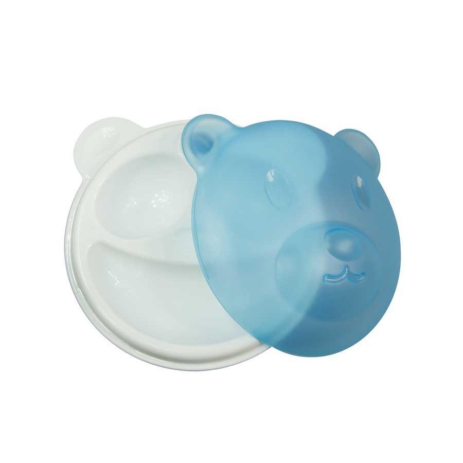 Prato Térmico com Ventosa Urso Azul - Girotondo Baby