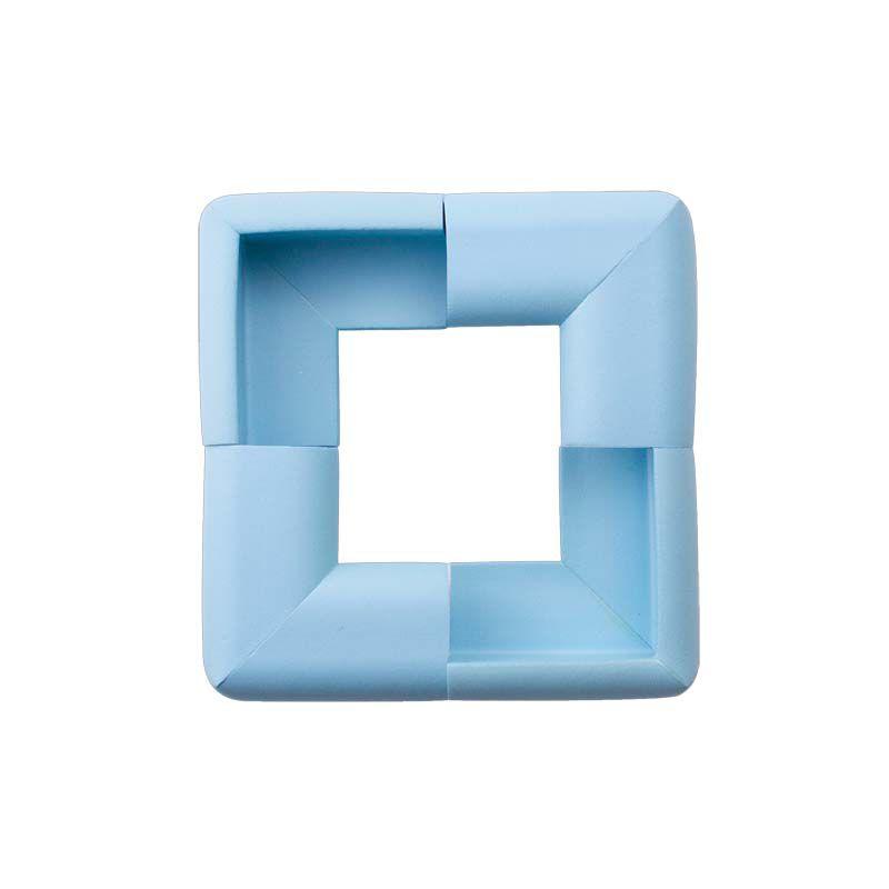 Protetor para Quina de Vidro Formato V Azul - Comtac Kids