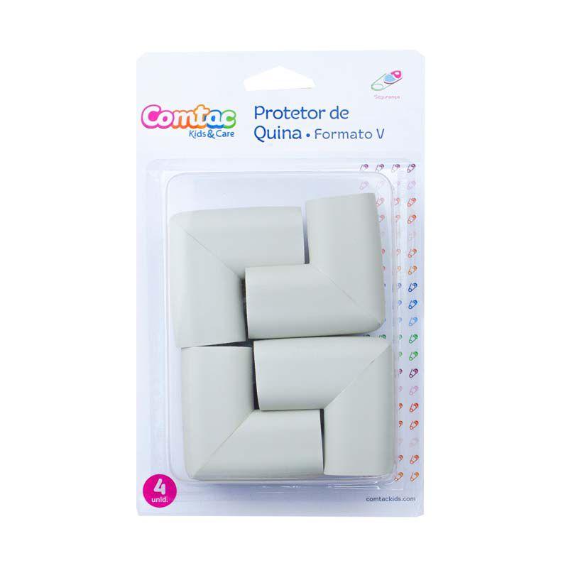 Protetor para Quina de Vidro Formato V Cinza - Comtac Kids