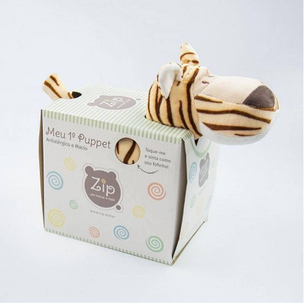 Puppet Travesseiro de Bebe Tigre - Zip Toys