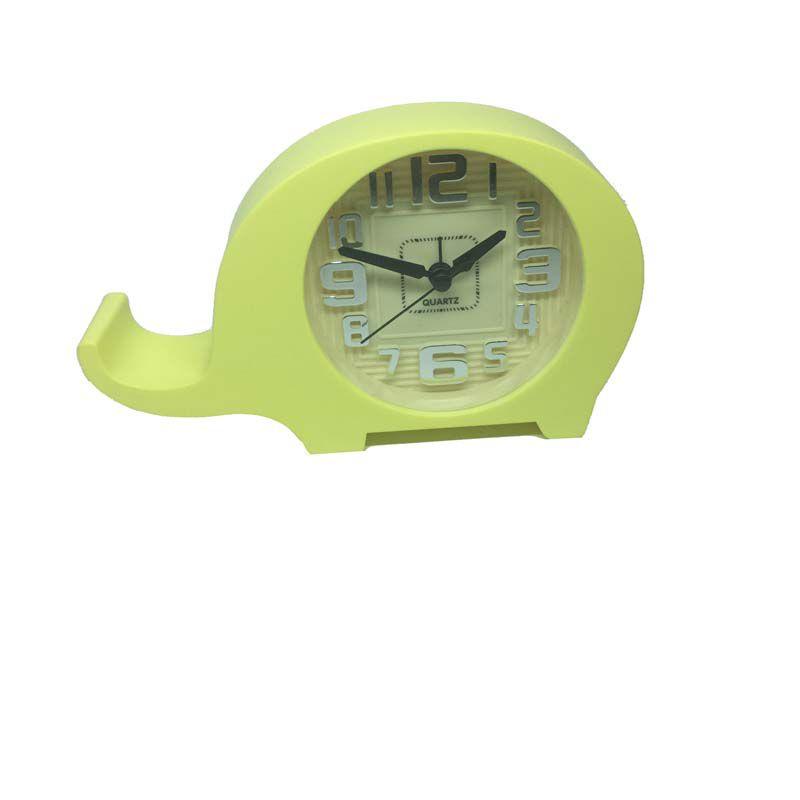 Relógio de Cabeceira Amarelo - Elefantinho - Baby
