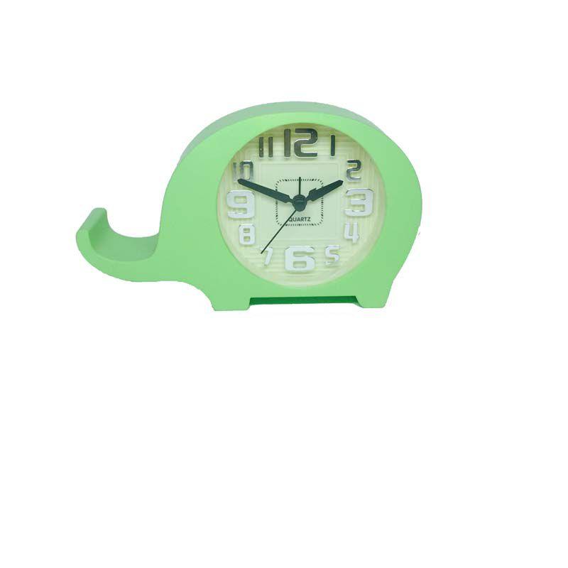 Relógio de Cabeceira Verde - Elefantinho - Baby