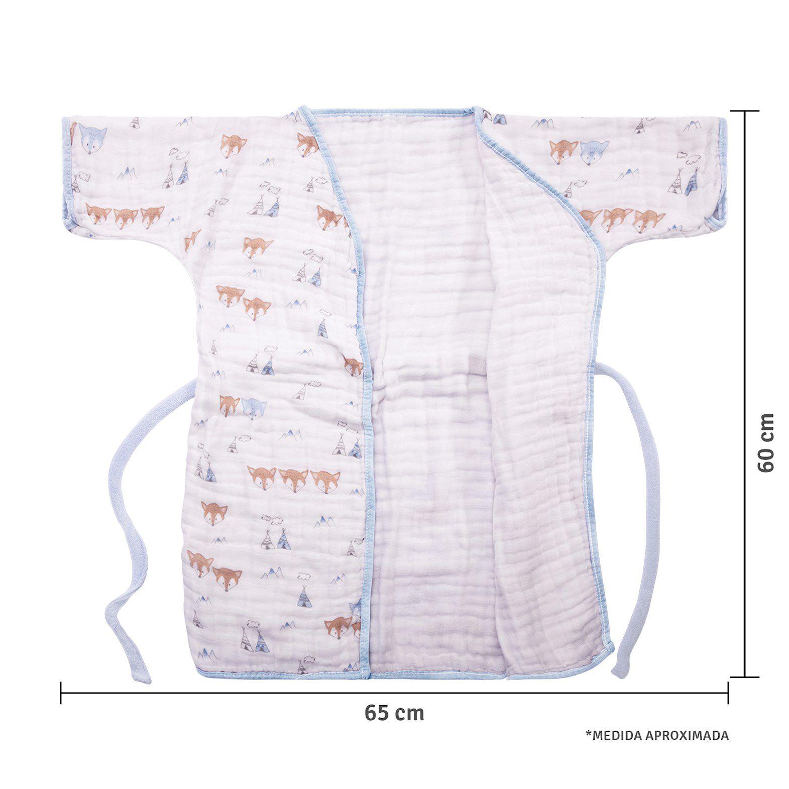 Roupão Soft Premium Raposa - Papi Baby