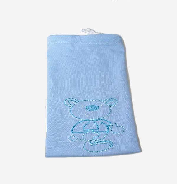 Saco Para Roupas Impermeável Baby Azul - Zip Toys
