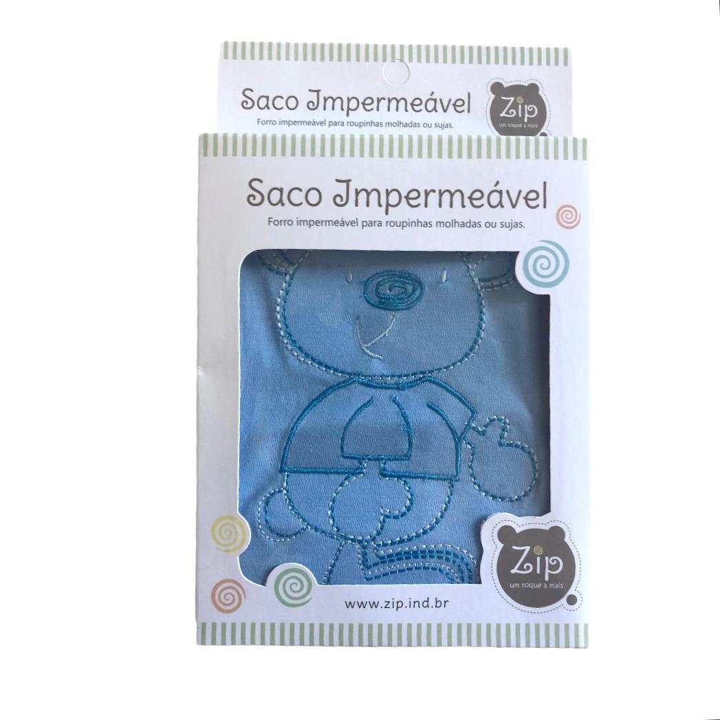 Saco Impermeável Para Roupas Molhadas Baby Azul - Zip Toys